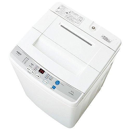 アクア 4.5kg 全自動洗濯機 ホワイトAQUA AQW-S45D-W