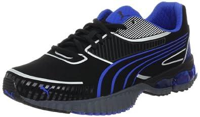 PUMA Men's Braca Running Shoe,Black/Princess Blue,14 D US