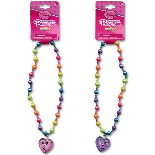 "WeGlow International Minnie Bowtique 16"" Assorted Pearl Necklaces with 3D Charm (3 Necklace)"
