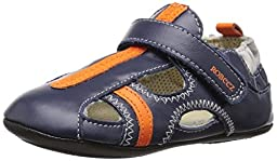 Robeez Rugged Rob Hard Sole Mini Shoe (Infant), Navy, 12-18 Months M US