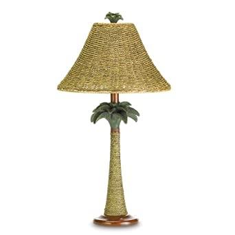 palm tree lamp ratton rope shade outdoor table lamps. Black Bedroom Furniture Sets. Home Design Ideas