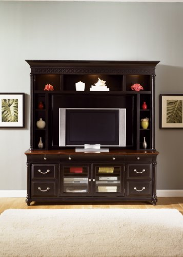 Cheap LIBERTY ST. IVES ENTERTAINMENT TV STAND & MOUNTABLE HUTCH CHOCOLATE & CHERRY 2PC (260-ENT)