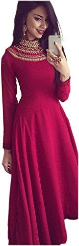 Fotoable-Womens-Designer-Raw-Silk-Ethnic-Gown-dj11239RedFree-Size