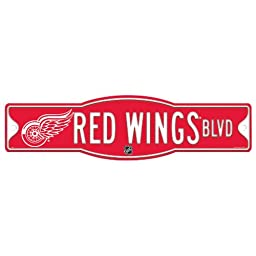 NHL Detroit Red Wings Sign, 4.5 x 17-Inch