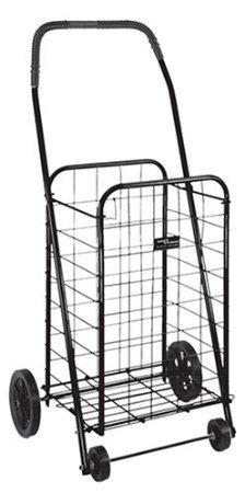 Duro-Med Folding 15 X 17 X 36 Shopping Cart, Black front-1071022