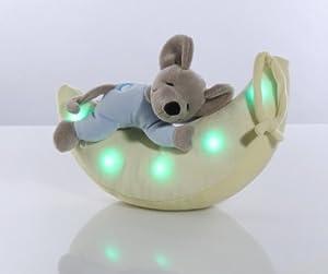 Ansmann - Ratón y luna de peluche con luz LED de colores por Ansmann en BebeHogar.com