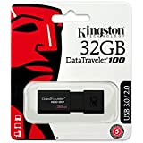 Kingston DT100G3/32GB DataTraveler 100 G3 - Memoria USB de 32 GB, USB 3.1 (40MB/s R, 10MB/s W)