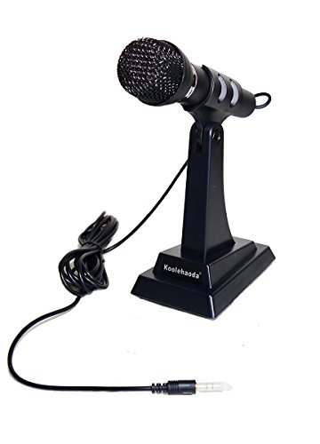 koolehaoda Stand Alone Microphone for PC Computer Laptop Notebook, VOIP, w/noise canceling
