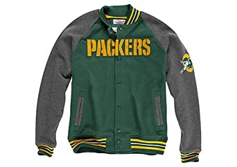 Green Bay Packers Mitchell & Ness NFL Backward Pass Fleece Jacket by Mitchell & Ness