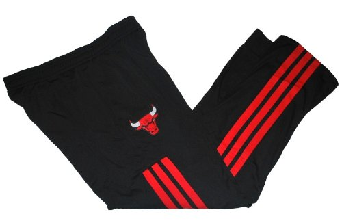 Chicago Bulls Adidas Black Red Performance Pocketed Warm-Up Sweatpants (L) at Amazon.com