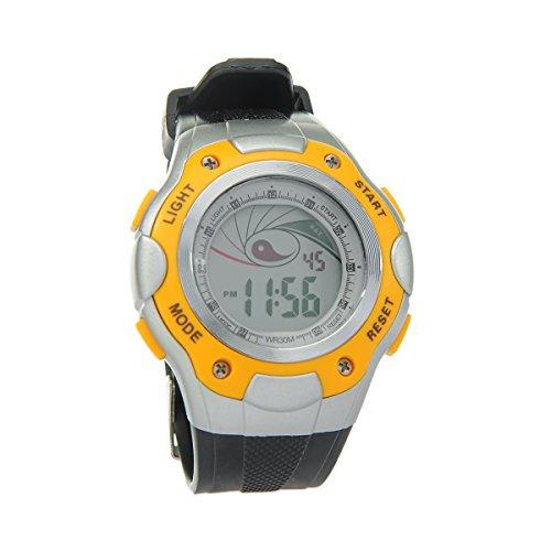 8Years - 1 Digitaluhr Armbanduhr Watch Stoppuhr Wasserdicht Gelb
