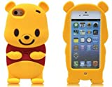 Disney Cartoon 3D Winnie the Pooh Soft Silicone Cover Case for iPhone 5 5g 5s