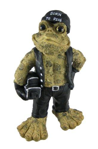 Toad Hollow Standing Biker Frog Statue Motorcycles