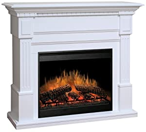 Dimplex Essex Electric Fireplace In White Home Kitchen