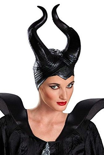 Gmasking Latex Womens Maleficent Horns Headpiece+Gmask Helmet Keychain