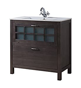 Niza 32 Inch Wide Bathroom Vanity Cabinet Set Grey