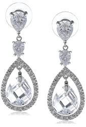 Nina 'Pansy' Petite Crystal Teardrop Earrings