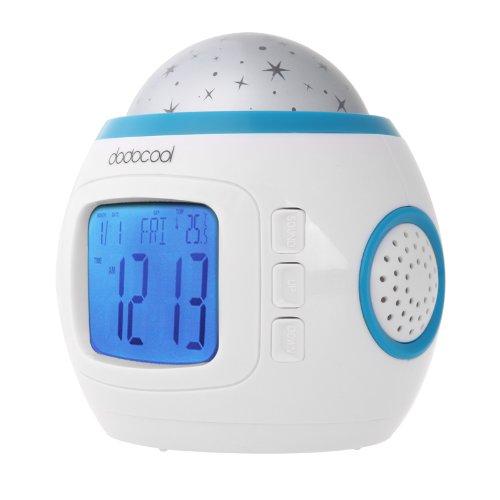 Sternenhimmel Projektion Projektor Digital LED Kinder Musik Wecker Nachtlicht Farbwechsel Thermometer günstig