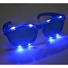 12 Pairs Huge Jumbo Light Up Led Glasses / Shades Blue