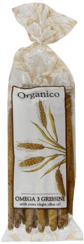 Organico Omega 3 Organic Grissini 120 g (Pack of 8)