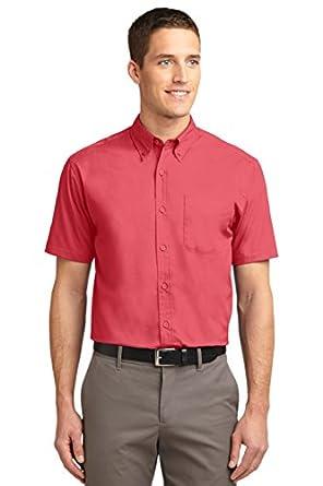 Port Authority Men's Short Sleeve Easy Care Shirt XS Hibiscus/Hibiscus