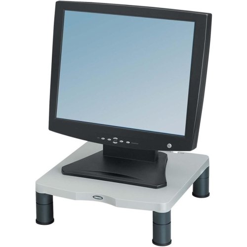 "Brand New Fellowes, Inc - Fellowes Monitor Riser - Up To 21"" Screen Support - 60 Lb Load Capacity - Crt, Lcd Display Type Supported - 4"" Height X 13.1"" Width X 13.5"" Depth - Desktop - Plastic - Graphite, Platinum ""Product Category: Accessories/Stands & Ca"