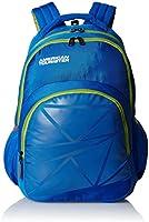 American Tourister Ebony Blue Casual Backpack (Ebony Backpack 02_8901836132724)