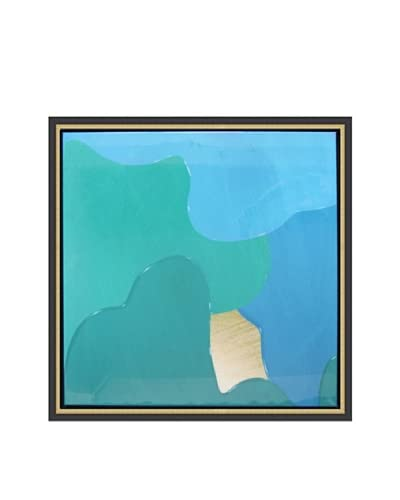 Jordan Carlyle Teal Drip Framed Art As You See