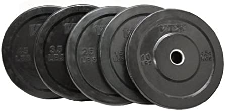 Troy VTX 260lb Black Olympic Rubber Bumper Plates Weight Set for Crossfit