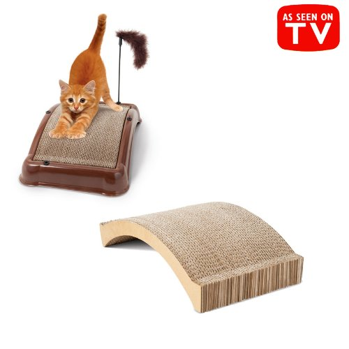 1, Emery Cat BOARD, REFILL, Your cat, can give itself a, pedicure, Patented abrasive emery surface works like a nail file, Emery Cat Board's special arch design is perfect for stretching and scratching, Each measures: 16
