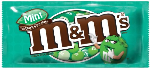 M&M's Dark Chocolate, Mint, 1.5-Ounce (Pack of 24)
