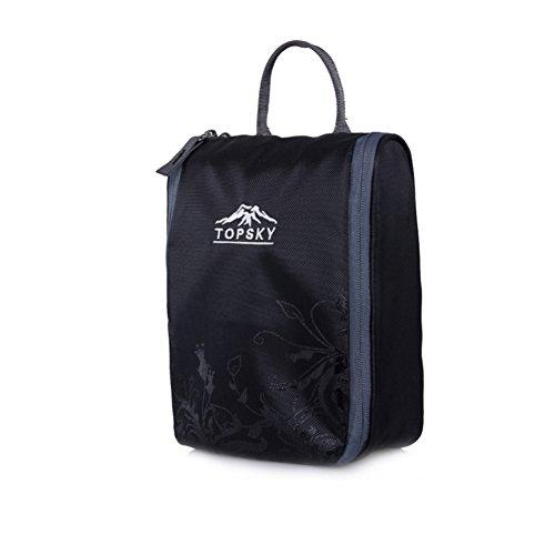 sac de lavage de Voyage extérieur / sac à cosmétiques fournitures essentielles / admission forfait de voyage-noir