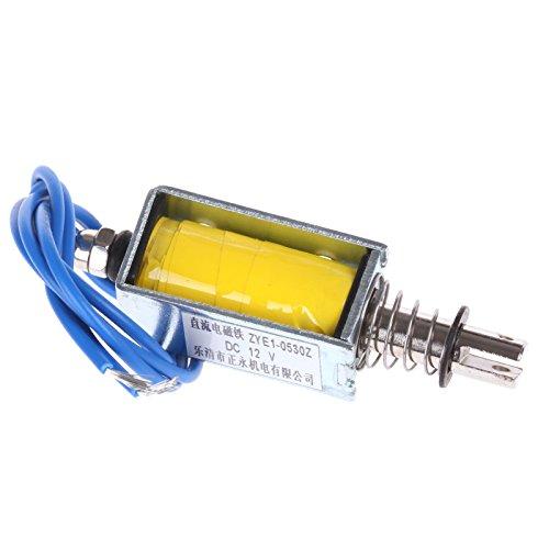 ZFE® 2 pcs ZYE1-0530 Push Pull Type Open Frame Solenoid Electromagnet DC 12V 1A 10mm