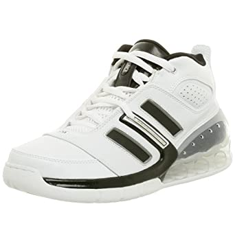 adidas Men's Bounce Artillery II Basketball Shoe,White/Black/Silver,6.5 M