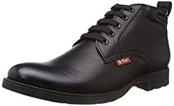 Lee Cooper Mens Black Leather Boots - 7 UK