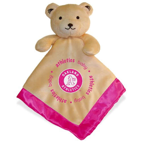 MLB Oakland Athletics Baby Fanatic Snuggle Bear Blanket, Pink