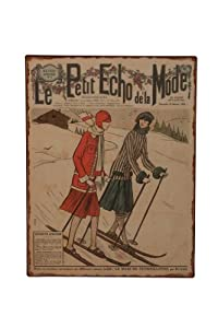 Skiing Wall Sign by London Ornaments