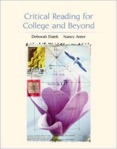 Critical Reading For College And Beyond front-534655
