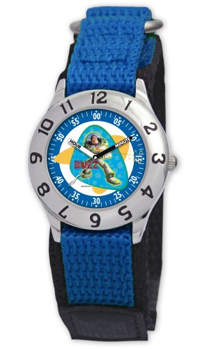 Disney Kids' D011S501 Toy Story Time Teacher Blue Velcro WatchDisney Kids' D011S501 Toy Story Time Teacher Blue Velcro Watch