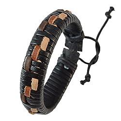 Bracelet Mens, Black for Everyday wear by Sarah