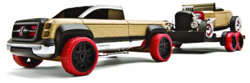 Manhattan Toy Automoblox Hot Rod Trailer Set (Full Size)