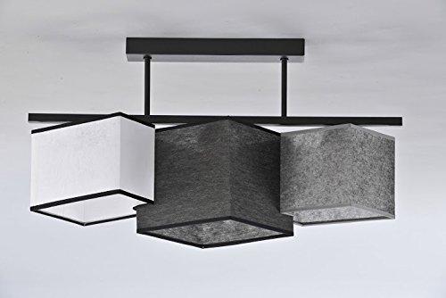 Hngende-Lampe-Deckenleuchte-Grau-Wei-Schwarz