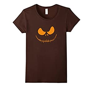 Women's The Official Scary Face Halloween Costume Tee Shirt Medium Brown