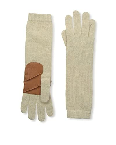 Portolano Women's Glove with Leather Palm, Oatmeal