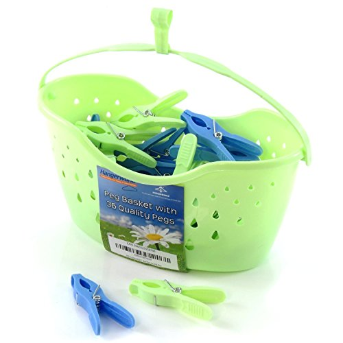 hangerworld-plastic-peg-basket-with-36-quality-pegs-for-clothes-lines-pack-of-1-green