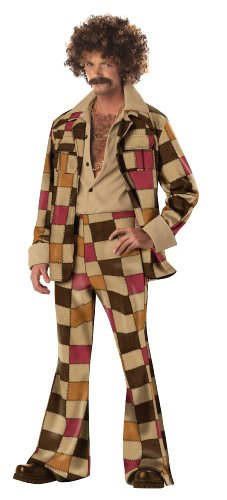California Costumes Men'S Disco Sleaze Ball Costume,Brown,Large front-66380