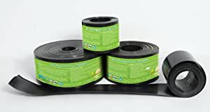 Lawn edging for lawns gravel's path and aggregates, Recycled Plastic Heavy Duty Lawn Edging, Strimmer proof Black safe for pets and humman, no rot or rust, For NEAT LAWN AND GARDEN, REDUCE HARD WORK and save many hours (every year!) 2mm thick 25m, 12cm depth