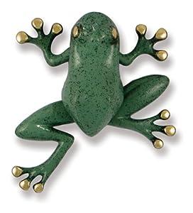 Michael Healy Designs MH1401 Tree Frog Door Knocker, Brass/Blue-Green Patina
