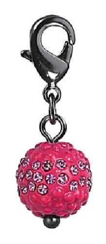 Pilgrim Women's Charms Pendant Black Metal, Pink 560322