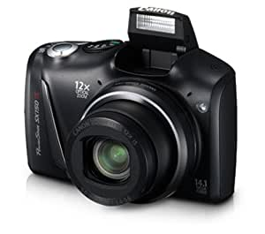 Canon 5664B005 PowerShot SX150 IS 14.1 MP Digital Camera with 12x Wide-Angle Optical Image Stabilized Zoom with 3.0-Inch LCD (Black)